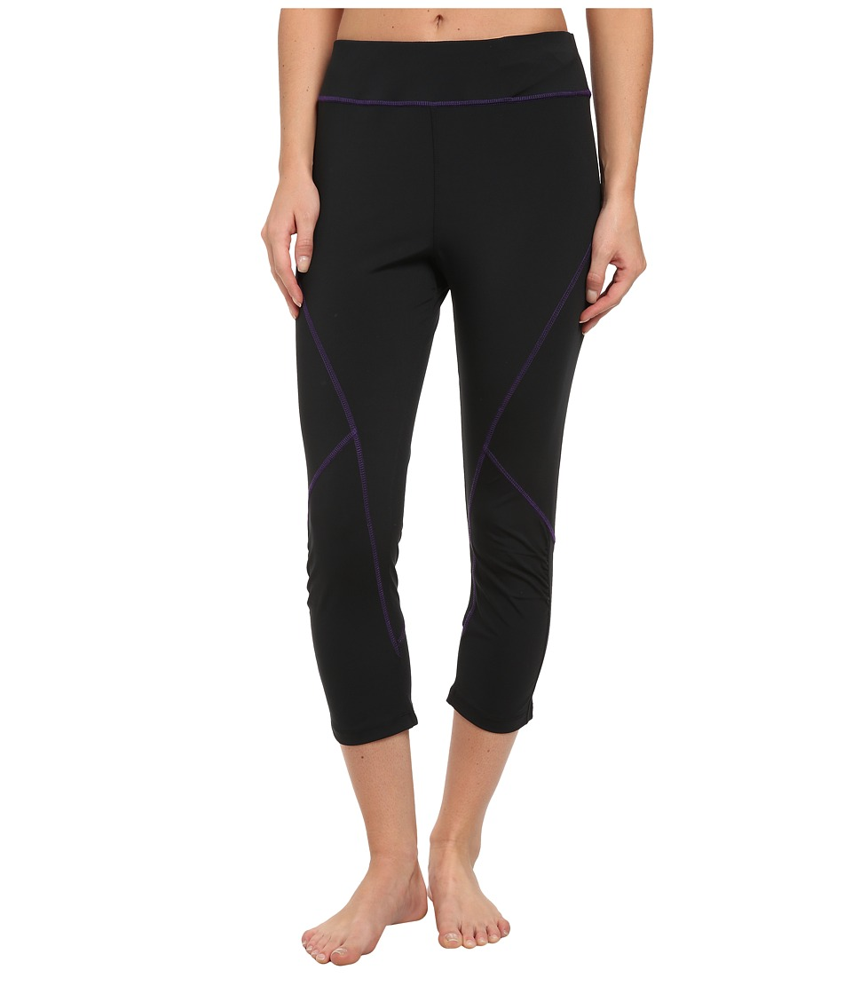 Tail Activewear - Joy Compression Legging (Black/Purple) Women's Workout