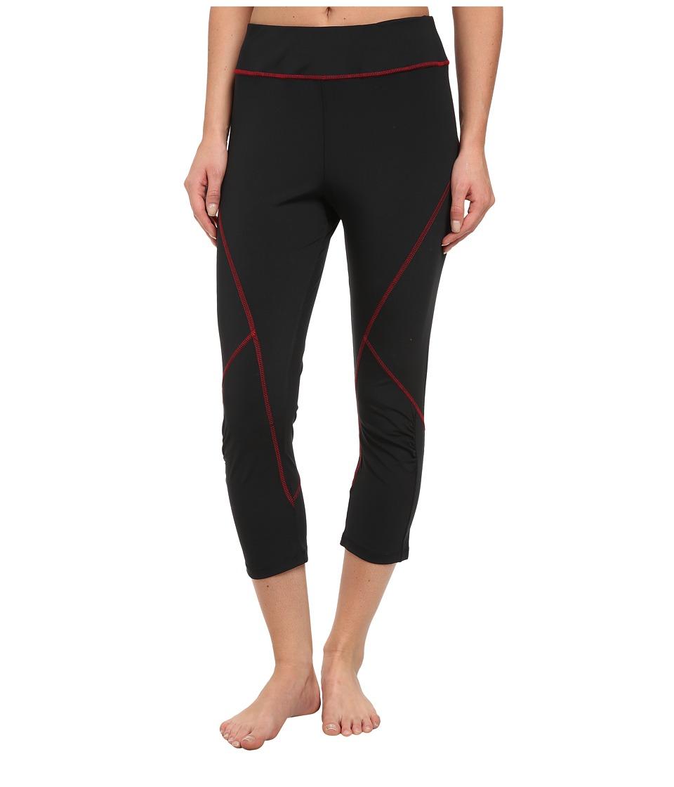 Tail Activewear - Joy Compression Legging (Black/Scarlet) Women
