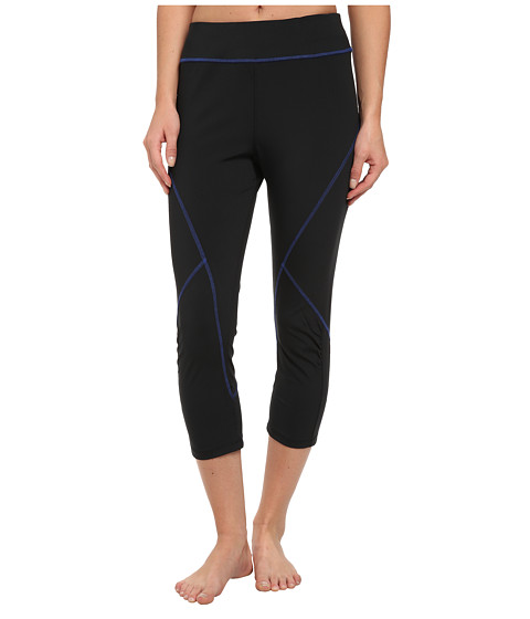 Tail Activewear - Joy Compression Legging (Black/Royal Blue) Women
