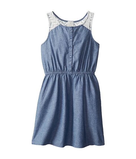 Ella Moss Girl - Chambrey w/ Lace Dress (Big Kids) (Chambrey) Girl's Dress