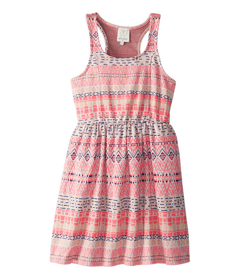 Ella Moss Girl - Jacquard Tank Dress (Big Kids) (Coral) Girl