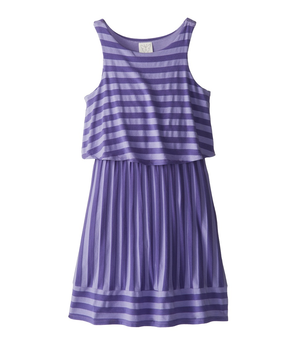 Ella Moss Girl - Waldo Stripe Tank Dress (Big Kids) (Purple) Girl's Dress