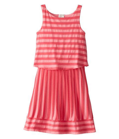 Ella Moss Girl - Waldo Stripe Tank Dress (Big Kids) (Coral) Girl's Dress