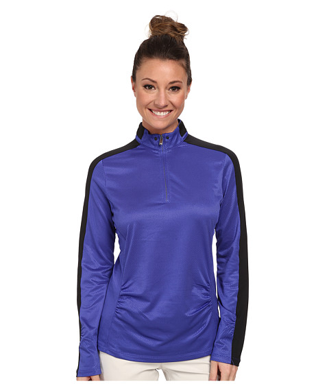Tail Activewear - Sloane Mock Neck 1/4 Zip (Ultramarine) Women's Long Sleeve Pullover