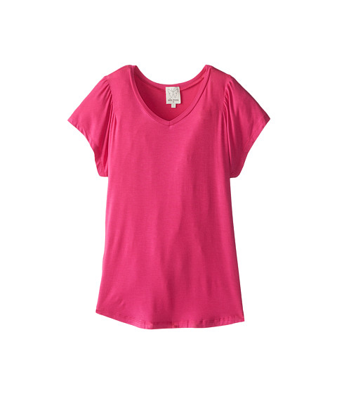 Ella Moss Girl - Ella Loves Basic S/S Tee (Big Kids) (Pink) Girl