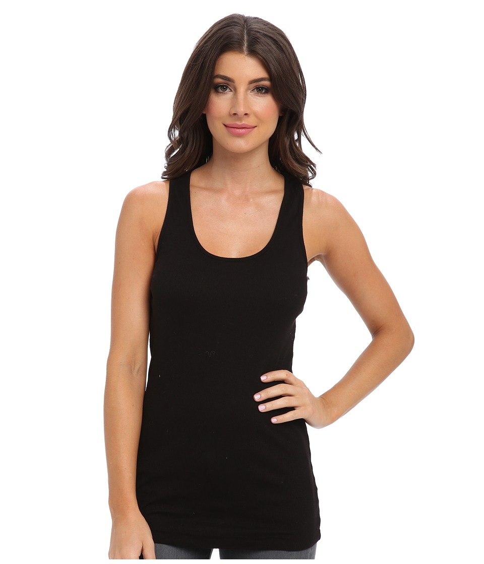 LAmade - Long Rib Racer (Black) Women's Sleeveless