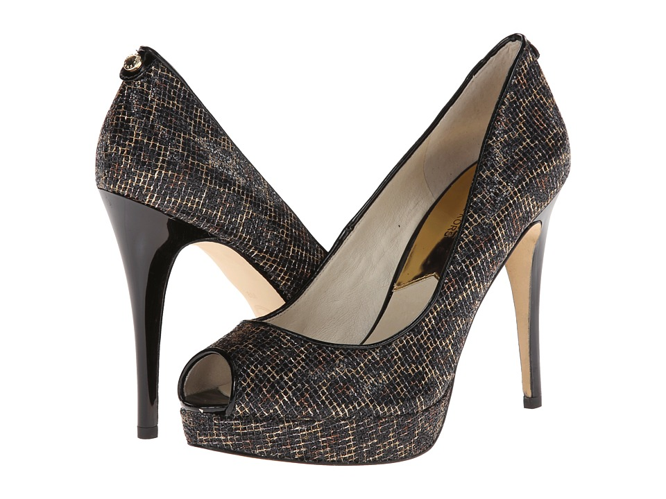 MICHAEL Michael Kors - York Platform (Cheetah Brown Cheetah Glitter) High Heels