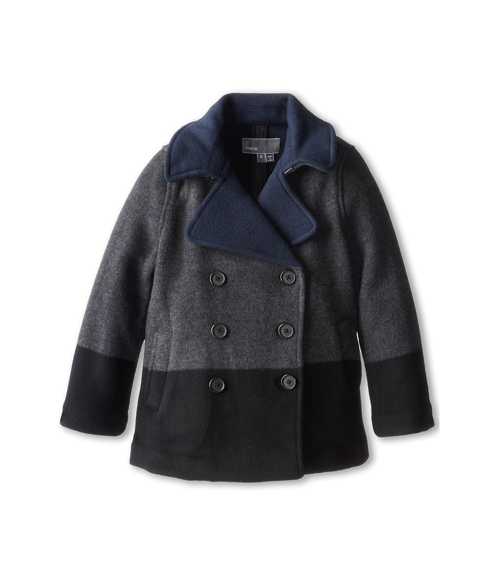 Vince Kids - Double Faced Peacoat (Little Kids) (Dark Shadow) Girl's Coat
