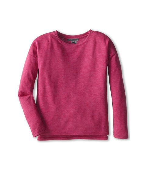 Vince Kids - L/S Space Dye Side Split (Big Kids) (Fuchsia Heather) Girl's Long Sleeve Pullover