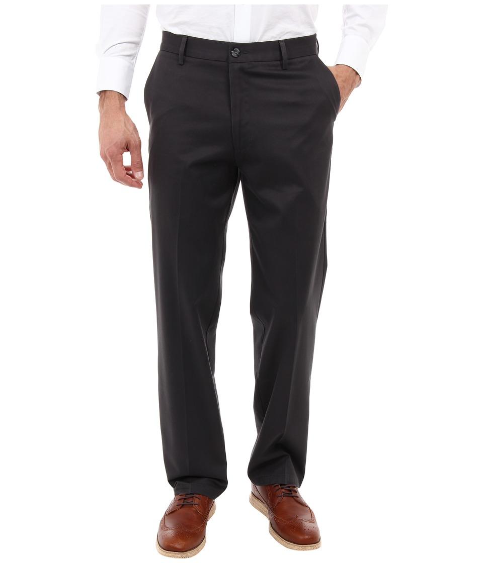 Dockers Men's - Signature Khaki D2 Straight Fit Flat Front (Steelhead) Men's Casual Pants