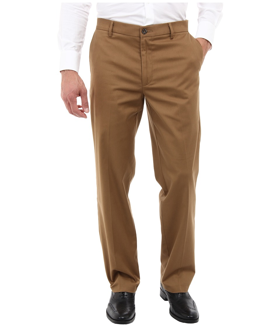 Dockers Men's - Signature Khaki D2 Straight Fit Flat Front (Sueded/Otter) Men's Casual Pants