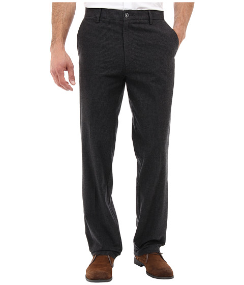 Dockers Men's - Signature Khaki Straight D2 Fit Flat Textured Yarn Dye (Textured Stripe/Black) Men's Casual Pants