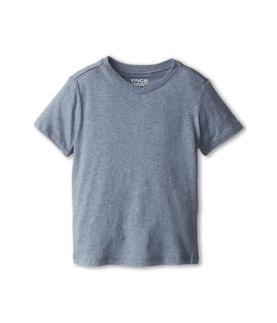 Vince Kids - Favorite Heather V-Neck Tee (Little Kids) (Mineral Blue Heather) Boy's Short Sleeve Pullover