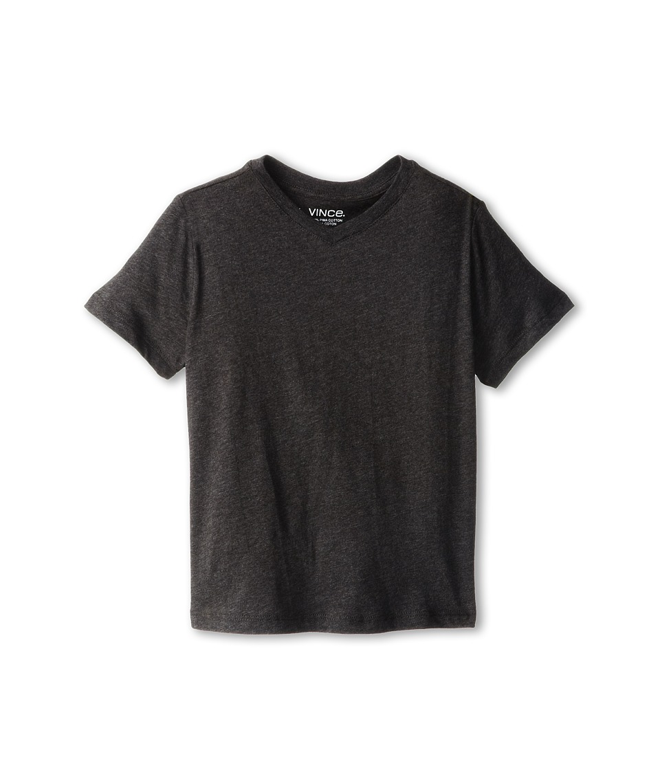 Vince Kids - Favorite Heather V-Neck Tee (Little Kids) (Charcoal Heather) Boy's Short Sleeve Pullover