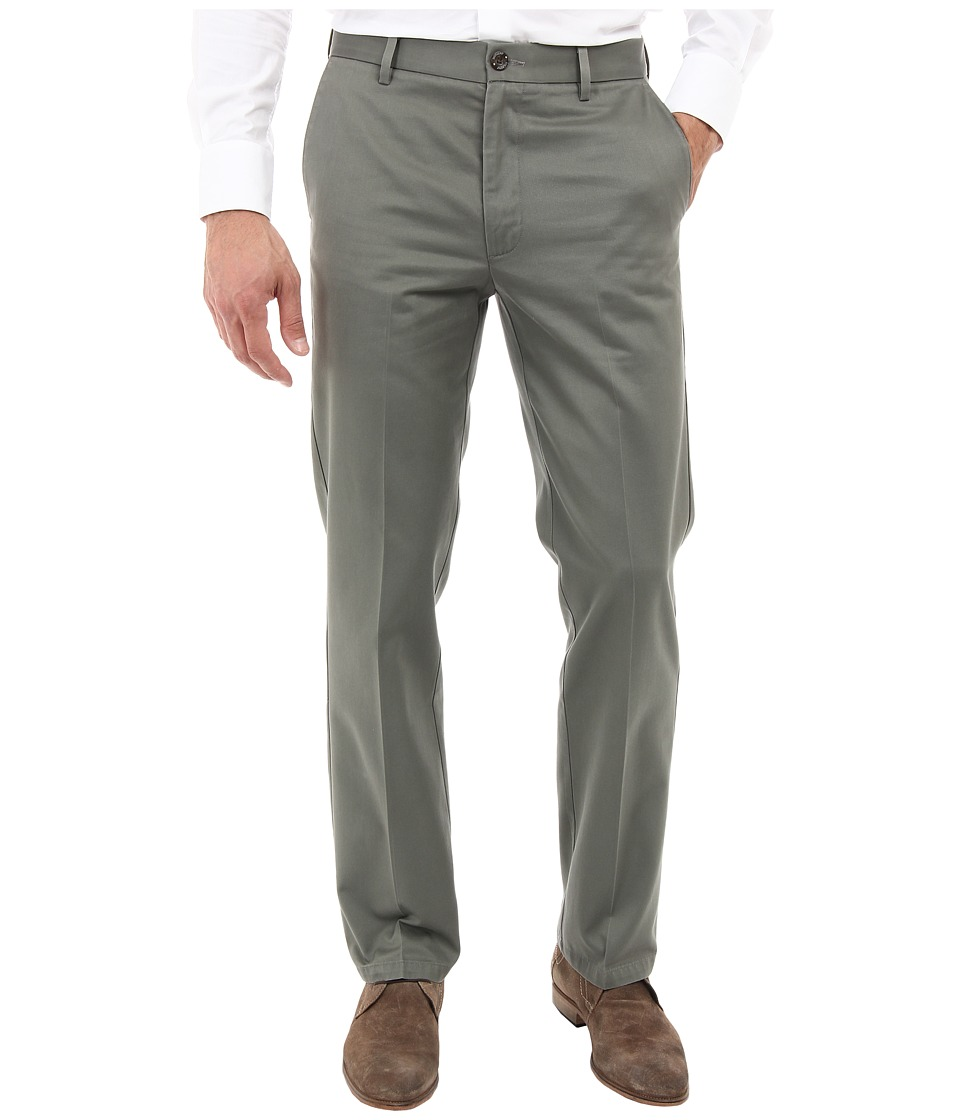 Dockers Men's - Signature Khaki D1 Slim Fit Flat Front (Oregano Stretch) Men's Dress Pants