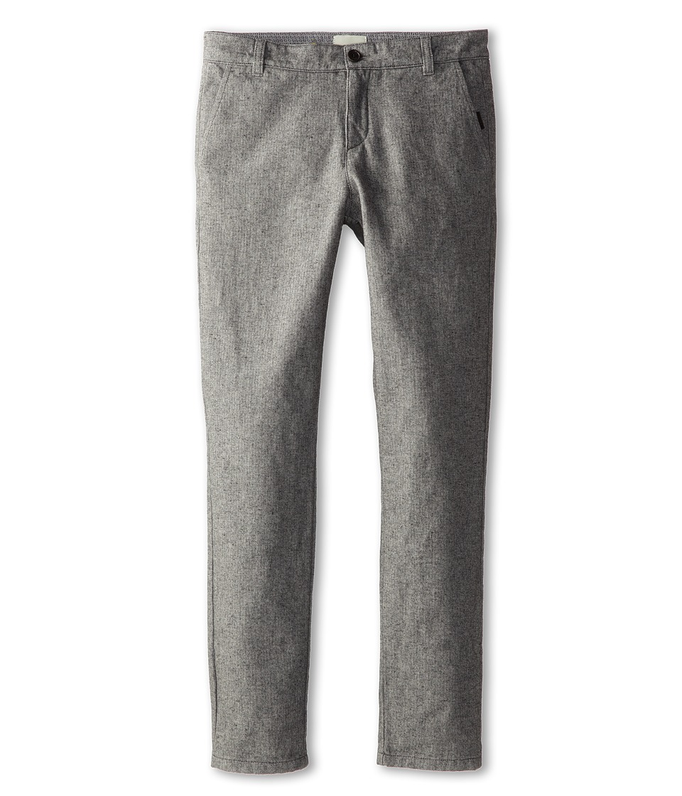 Fendi Kids - Flannel Herringbone Trouser (Big Kids) (Grey) Boy's Casual Pants