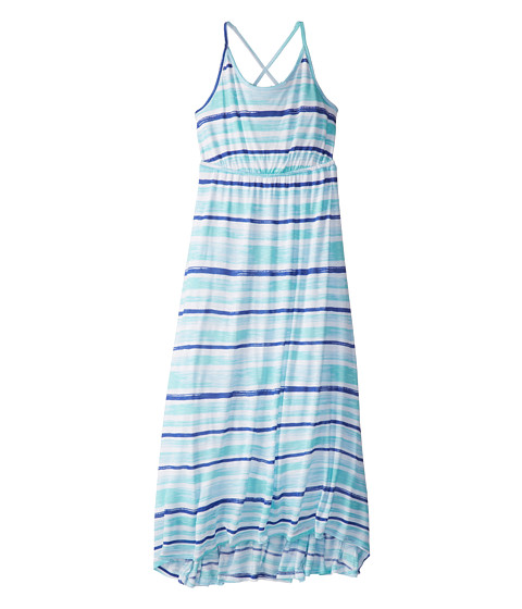 Splendid Littles - Painterly Slub High Low Maxi Dress (Big Kids) (Feather Blue) Girl