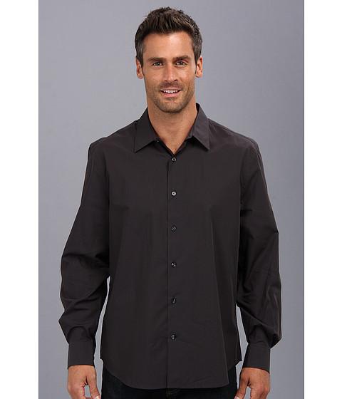 Perry Ellis - L/S Thin Stripe Shirt (Slate) Men