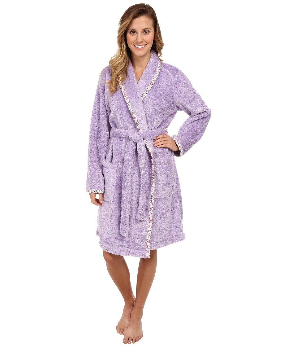 Carole Hochman - Sherpa Separates Short Robe (Lovely Lilac) Women's Pajama