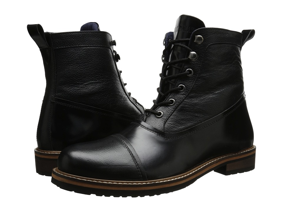 Ben Sherman - Rafe (Black) Men's Lace-up Boots