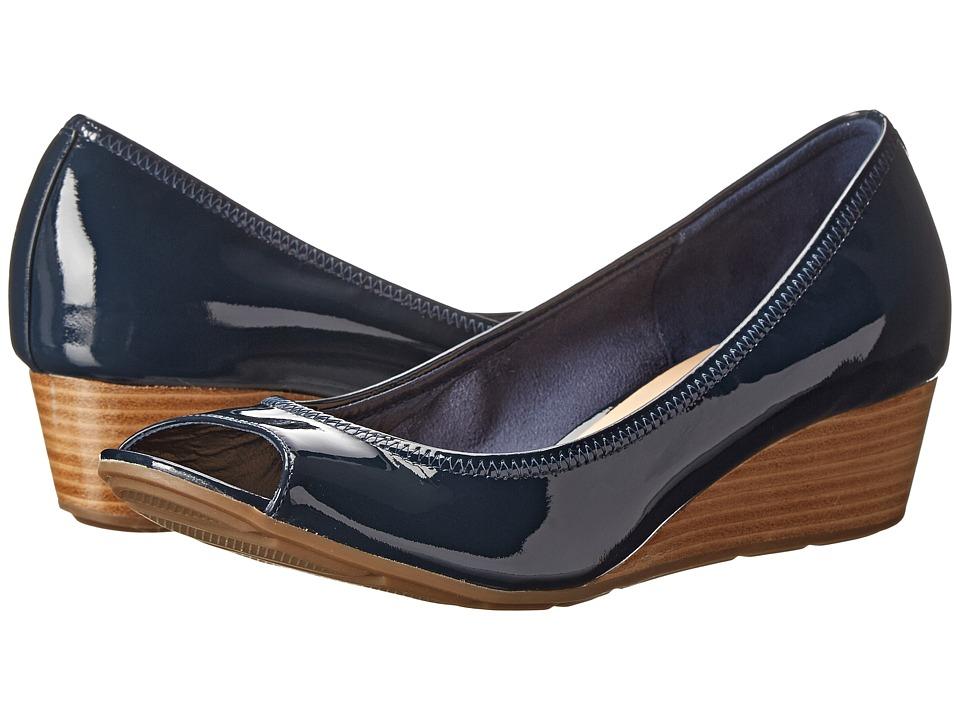 Cole Haan - Air Tali OT Wedge 40 (Blazer Blue Patent/Lurex) Women's Wedge Shoes