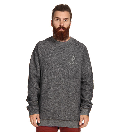Crooks & Castles - Bandit Knit Sweatshirt (Speckle Black) Men's Sweatshirt