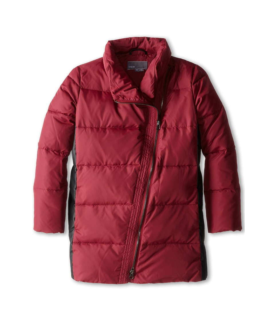 Vince Kids - Asymmetric Down Puffer (Little Kids) (Rosewood) Girl's Coat
