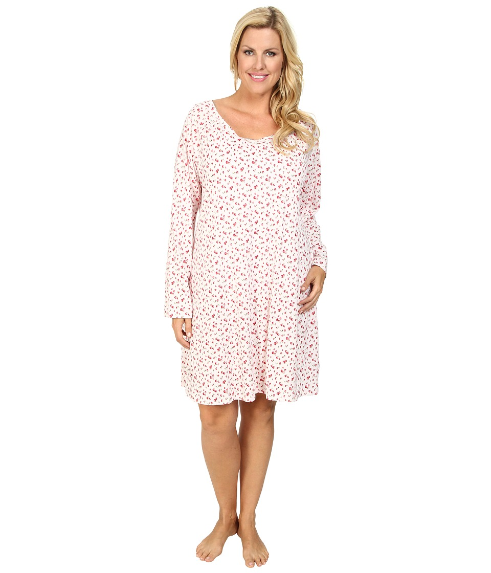 Carole Hochman - Plus Size Vintage Wildflower Sleepshirt (Rosebud Ditsy Pink) Women