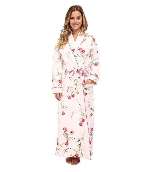 Carole Hochman - Forever Carnation Long Robe (Vintage Wild Flower Pink) Women's Pajama