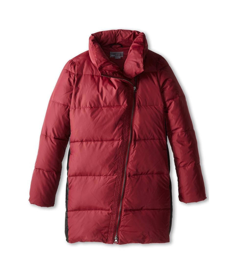Vince Kids - Asymmetric Down Puffer (Big Kids) (Rosewood) Girl's Coat