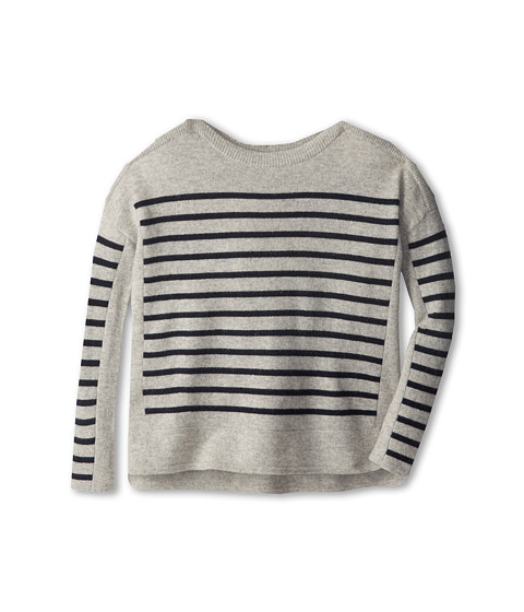 Vince Kids - Ribbed Shoulder Tunic (Big Kids) (Grey Heather) Girl