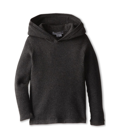 Vince Kids - L/S Thermal Hoodie (Little Kids) (Charcoal Heather) Boy