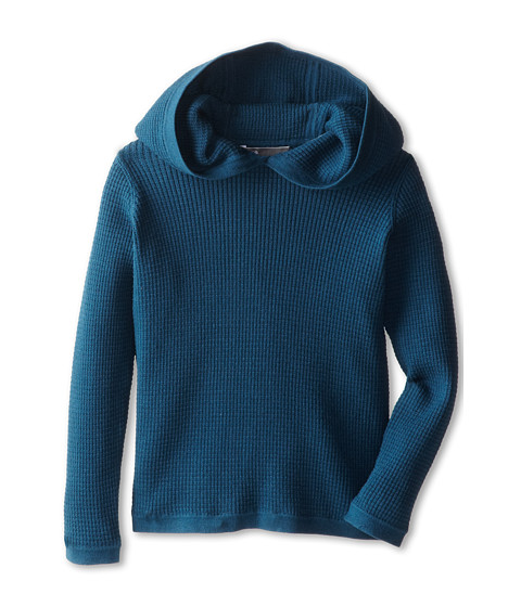Vince Kids - L/S Thermal Hoodie (Little Kids) (Majolical Blue) Boy's Long Sleeve Pullover