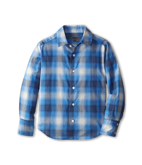 Vince Kids - Shadow Plaid Button Down (Little Kids) (Bluesteel) Boy