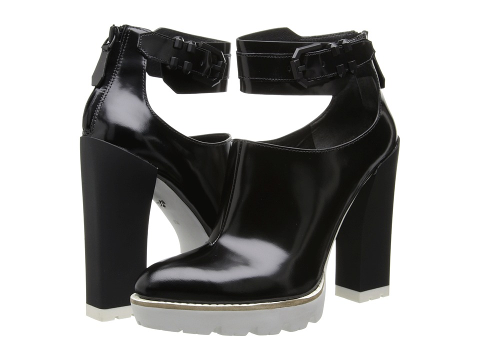 Kenneth Cole New York - Otto (Black/White Leather) High Heels