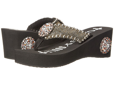 Gypsy SOULE - Tatum Heel (Black) Women's Sandals