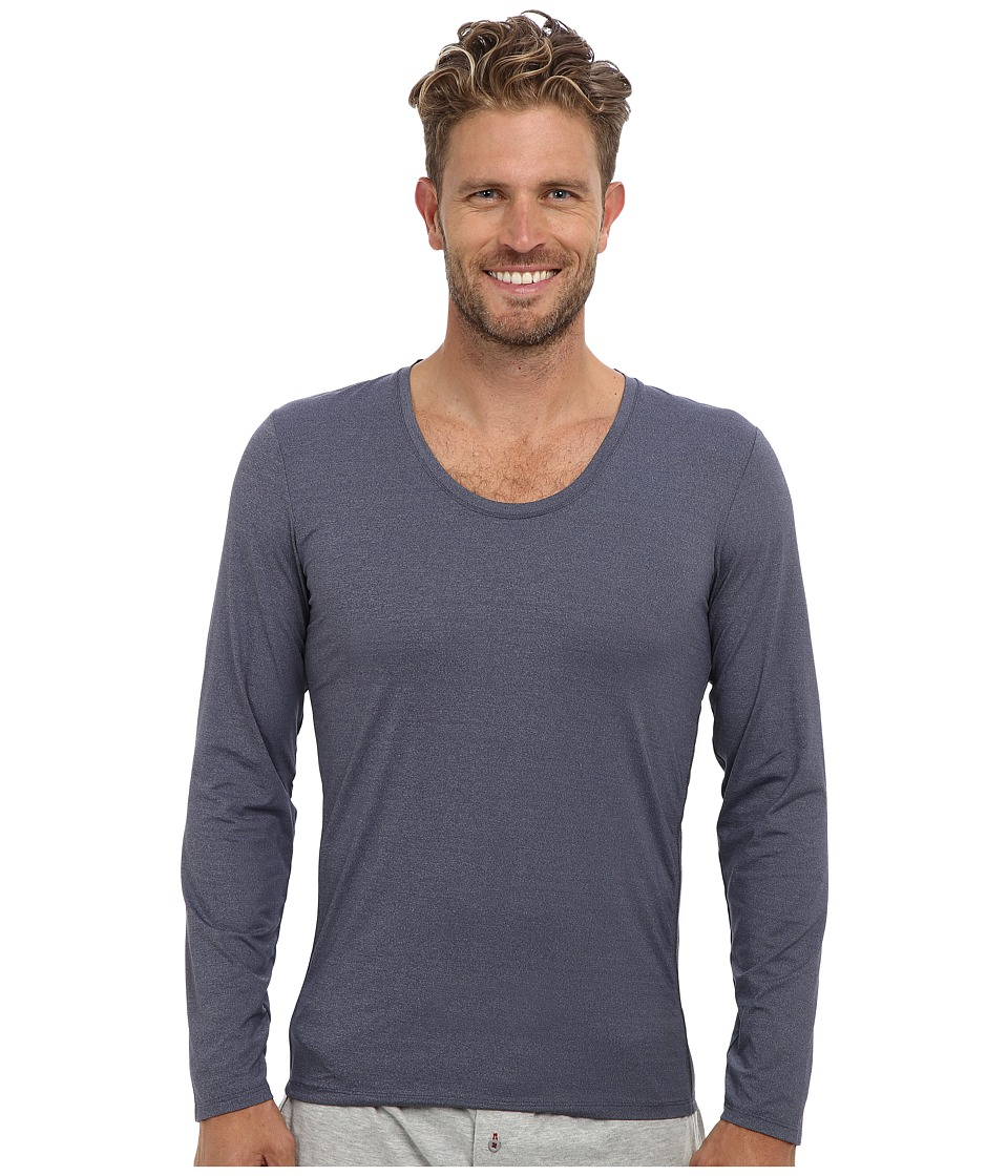 Calvin Klein Underwear - ck Ease L/S Curve Neck M9681 (Blue Shadow) Men