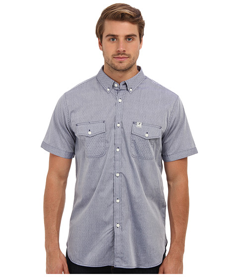 Marc Ecko Cut & Sew - Splitsville Polka S/S Shirt (Chambray 2) Men