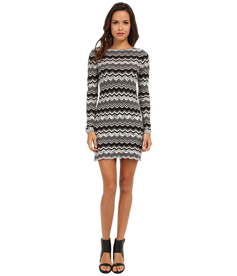 Autumn Cashmere - Flame Stitch Dress (Grey Combo) Women