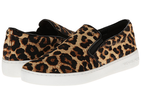 MICHAEL Michael Kors - Keaton Slip On (Natural Cheetah Haircalf/Printed Python/Patent PU) Women