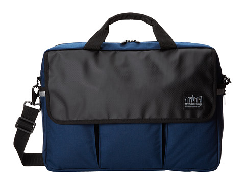 Manhattan Portage - Webb Convertible Briefcase (Navy) Briefcase Bags