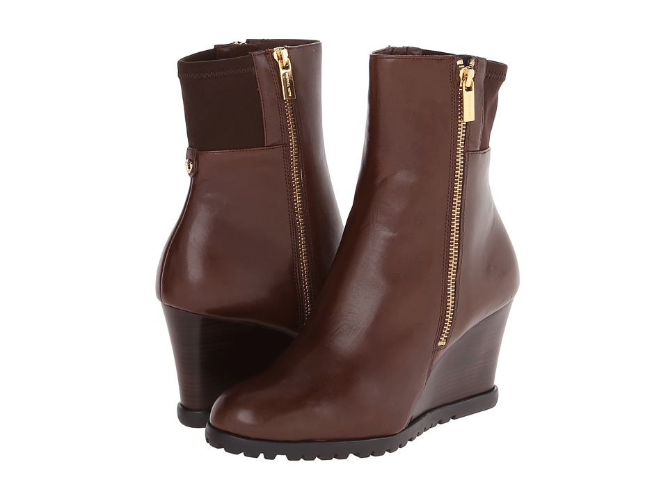 MICHAEL Michael Kors - Aileen Wedge (Mocha Vachetta/Sensitive Stretch) Women's Dress Zip Boots