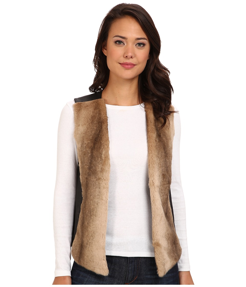 NYDJ - Faux Fur Front Vest (Black) Women