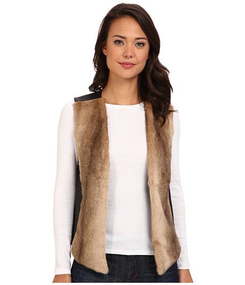NYDJ - Faux Fur Front Vest (Black) Women's Vest