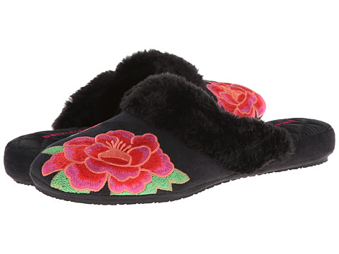 Patricia Green - Asian Floral (Black) Women's Slippers