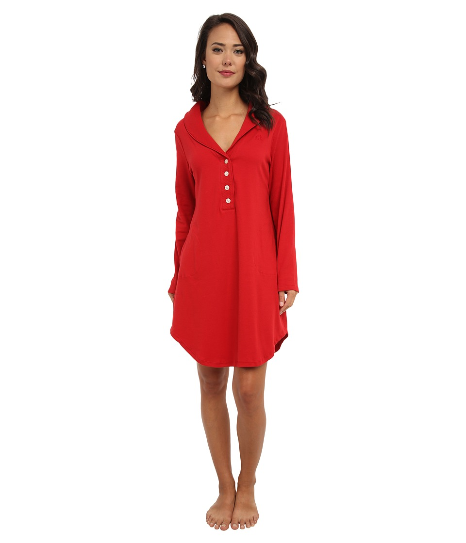 LAUREN by Ralph Lauren - Hartford Lounge Lounger with Quilted Collar (Holiday Red) Women
