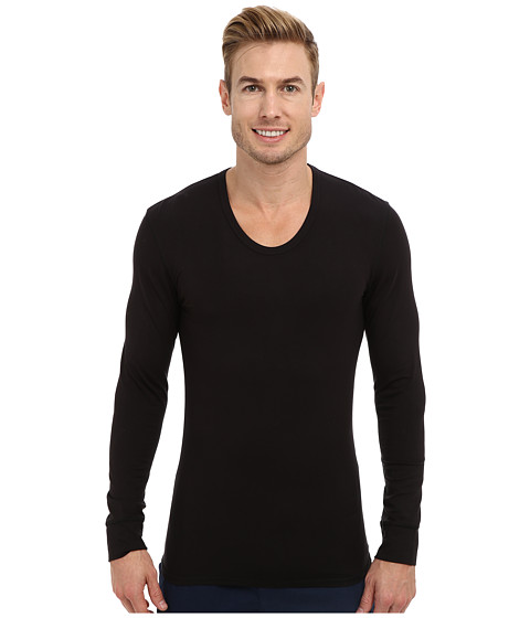 Calvin Klein Underwear - ck Thermal L/S U-Neck M9677 (Black) Men's Underwear