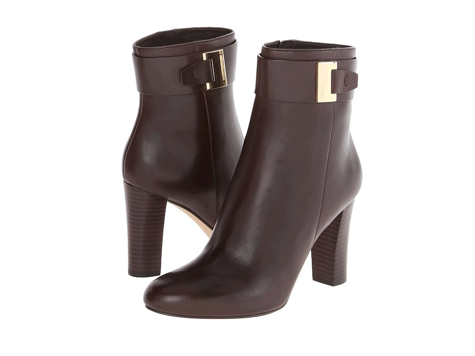 MICHAEL Michael Kors - Guiliana Ankle Bootie (Dark Chocolate Smooth Calf) Women