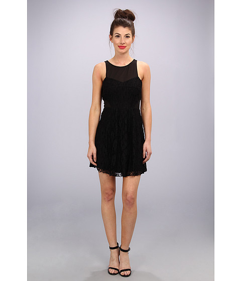 Dolce Vita - Celest Tank Fit Flare Dress (Black) Women's Dress
