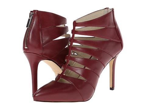 MICHAEL Michael Kors - Mavis Back Zip (Claret Smooth Calf) High Heels